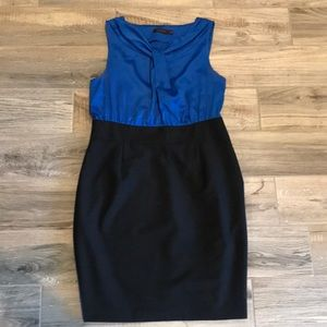 Black and blue dress from The Limited